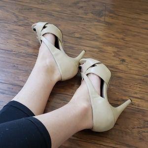 Cream colored heels